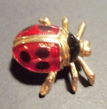 Enameled Lady Bug Pin with legs Older Pin no markings on it