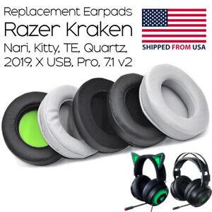 Replacement Ear Pads  / Cushions for  Razer Kraken, Nari, Kitty, Pro,7.1 V2 ALL