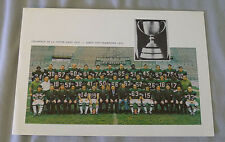 1970 CFL Montreal Alouettes Christmas Card With Grey Cup Team Photo