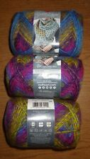 Lot of 3 Skeins, Red Heart Colorscape Yarn, 3.5 oz, 187 yds, Barcelona