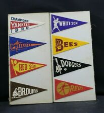 Vintage 1936-1938 BF3 Baseball  Mini Pennants Lot of 8 In Great Condition