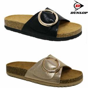 Ladies Dunlop Cushion Foam Walking Flip Flops Sliders Summer Mules Sandals Shoes