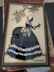 Vintage Silhouette Reversed Painting Foil Art Southern Belle -Smith Frederick #2