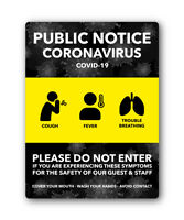 COVID VIRUS HYGIENE STICKER DO NOT ENTER SAFETY Signs office DECAL FAST SHIPPING