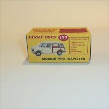 Dinky Toys 197 Morris Mini Traveller Van empty Reproduction box