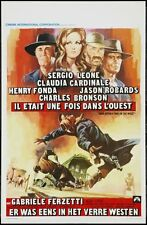 ONCE UPON A TIME IN THE WEST Belgian movie poster LEONE CARDINALE FONDA NM