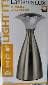 Lanterna LUX 9 in. Satin Nickel Indoor/Outdoor 23-LED Wireless Lamp by Light it!
