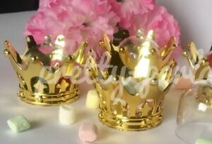 12X Fillable Baby Shower Favors Crown Prince Princess Table Decoration Girl Boy