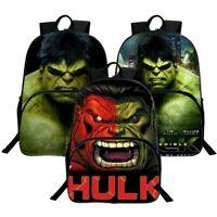 Superhero Hulk 3D Backpack Canvas Travel Bags Casual Mellow Dance School Bag