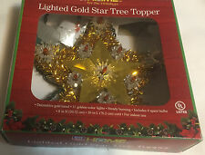 Home For The Holiday Lighted Gold Star Tree Topper ( Indoor Use)