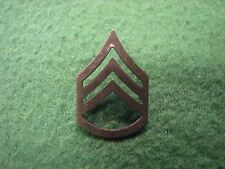 Vintage US Military Army Sergeant Insignia Pin Subdued Metal Pin