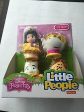 Fisher Price Little People Disney Princess Belle Friends Mrs. Potts Candle Clock