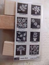 WtW Stampin Up Garden Block Stamp Kit 2003 Unmounted New Scrapbook Card Craft