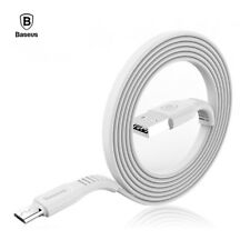 Cable Micro USB plano carga rapida movil y tablet BASEUS flat cable blanco