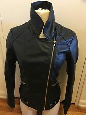 Quinn Women's Small Black Leather Jacket