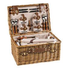 Luxus Picknickkorb für 4 Personen mit umfangreichem Zubehör