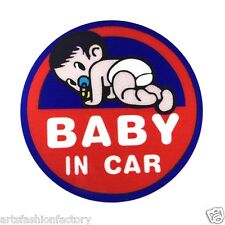 Baby in Car Baby Safety Sign Reflective Car Vinyl Sticker Window Decal Decor