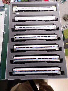 4 N Scale Kato Amfleet I Amtrak Phase I Paint 4 Car Set + 3 Extras