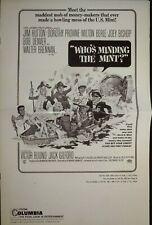 Who's Minding the Mint? Pressbook 1967 Jim Hutton, Dorothy Provine
