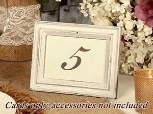 Wedding TABLE NUMBER CARDS 1-25 DOUBLE SIDED by David Tutera CASUAL ELEGANCE