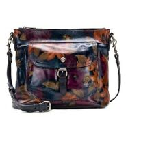 Patricia Nash Tuscania Leather Shoulder Bag in Large Peruvian Painting NWT