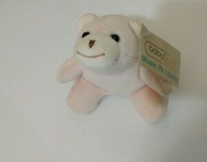 Ultra Rare Baby GUND SNUFFY Bear # 5580 NWT Rattle Plush Stuffed Animal Pink 5""