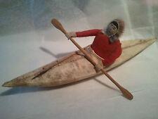~ Very Antique ALASKAN Eskimo Kayak Signed ArtWork ~ Best of the Best!