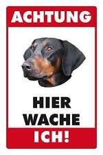 Blechschild - DOBERMANN HIER WACHE ICH -  20x30 cm 23004