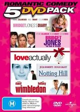 B30 BRAND NEW Bridget Jones Diary Love Actually Notting Hill Wimbledon (5 DVD)