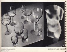 Héliogravure - 1935 - Sculpture and glass - Emelie Danielson
