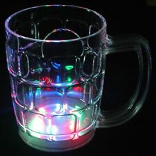 1 piece Blinking LED Beer Mug Multicolor Flash Light Up Barware Rave Party Gifts