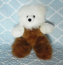 New 100% Baby Alpaca 12� Teddy Bear Soft Fluffy Cuddly White and Brown Great