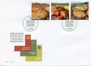 Croatia Gastronomy Stamps 2020 FDC Protected Agri-Food Products Foods 3v Set