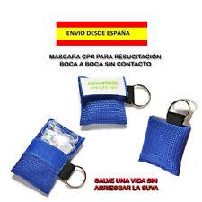 MASCARILLA SALVAVIDAS CPR RESPIRACIÓN BOCA A BOCA PLAYAS EMERGENCIA PISCINA MAR