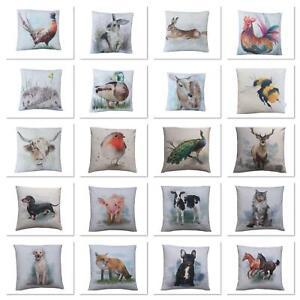 Handmade UK large print farm Country Animals multi designs gift cushion cover