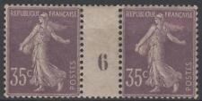 """FRANCE TIMBRE 136 """" SEMEUSE 35c VIOLET CLAIR PAIRE MILLESIME 6""""NEUF A VOIR  M465"""