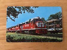 Burlington Route Pocket 1963 Calendar/ Ruler Railroad Train Image Wallet Size