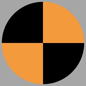 Aufkleber 10cm orange Sticker Crashtest Dummy Fadenkreuz Zeichen Symbol Marker