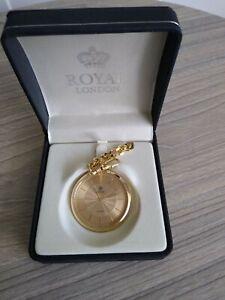 Royal London Unisex Slim Pocket Watch 90031-02 BNIB Personalised Quote