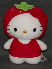 Hello Kitty 16cm Sanrio H&M Erdbeere Plüschtier Plüsch Kuscheltier Stofftier k