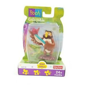 """Winnie The Pooh Collectible Toy 3"""" Figure Disney Fisher Price 1999 Owl"""
