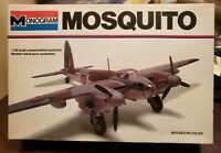 DeHavilland Mosquito Airplane - 1/48 Scale Model Kit - Monogram 1978 - Kit #5408