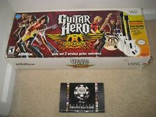 2 Wii Red Octane Aerosmith Guitar Hero controllers and Game+ FREE WIRELESS POKER