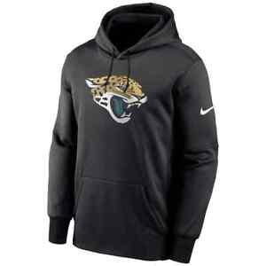New 2021 Jacksonville Jaguars Nike Fan Gear Primary Logo Therma Pullover Hoodie
