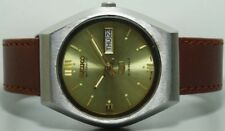 Vintage Seiko Automatic Day Date Mens Stainless Steel Wrist Watch Old Used s458