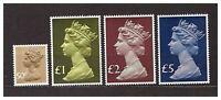 s30769) UK GREAT BRITAIN 1977 Definitives 4v
