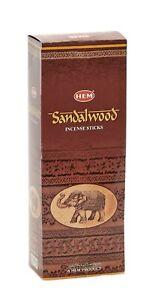 Hem Sandalwood Incense Sticks Genuine Agarbatti 120 Sticks [6 Packs X 20 Sticks]