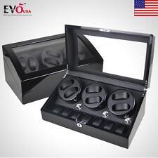 XTELARY Luxury Automatic 3 Motor Watch Winder Display Box 6+7 Leather Storage