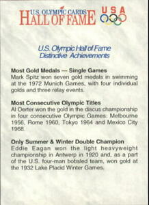 1991 Impel U.S. Olympic Hall of Fame #86 Achievements