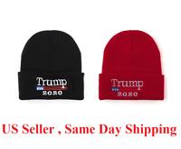 Trump 2020 MAGA Winter Knit Red Beanie Hat Make America Great Again Warm Cap